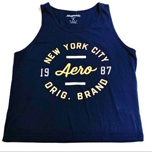 Aeropostale Womens Dotted Tank Top